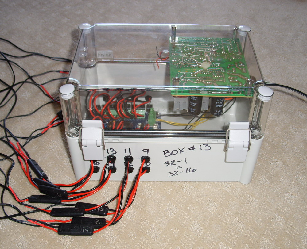 dc box with d light dcx16 and old pc power supply